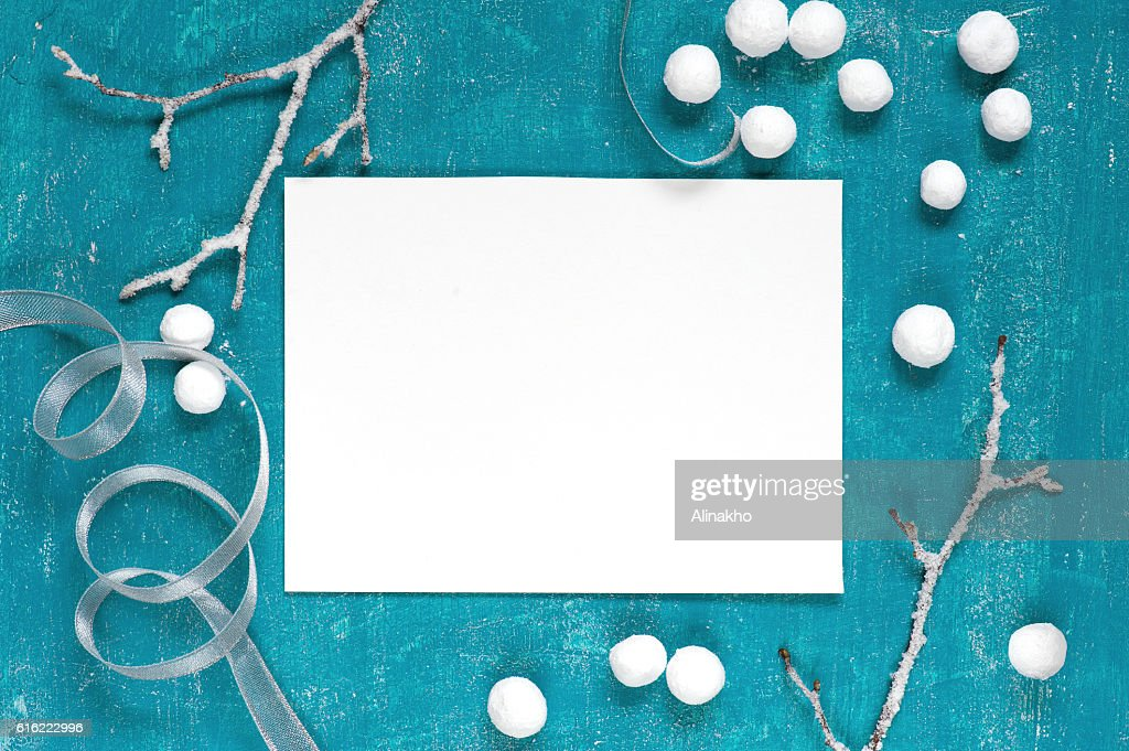 Painted blue background with decoration : Stock-Foto