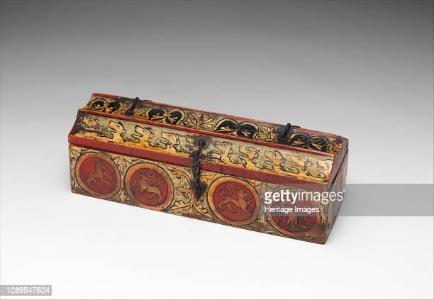 Painted Box for Game Pieces, German, ca. 1300. Artist Unknown.
