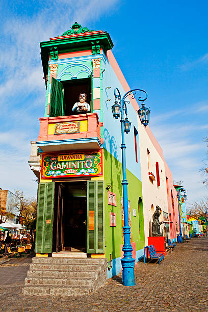 Painted buildings, La Boca