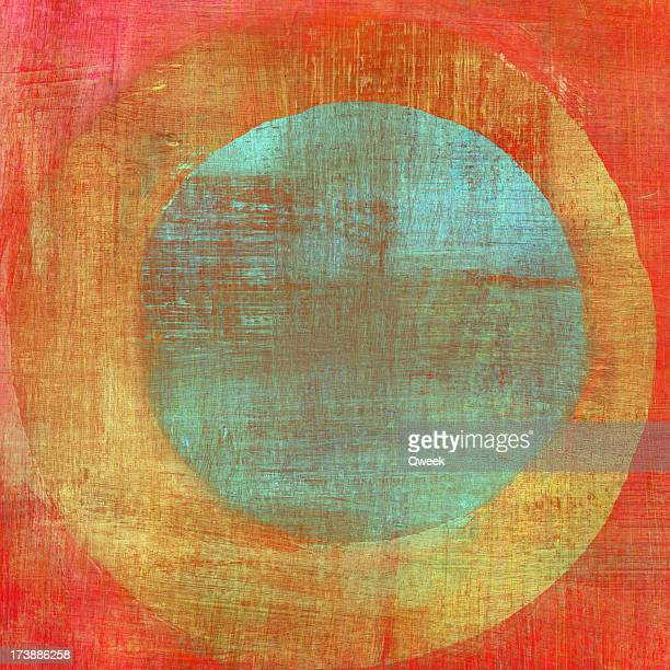painted composition with concentric circles - art stock pictures, royalty-free photos & images