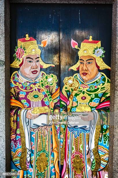 Painted Doors at Thian Hock Keng Temple