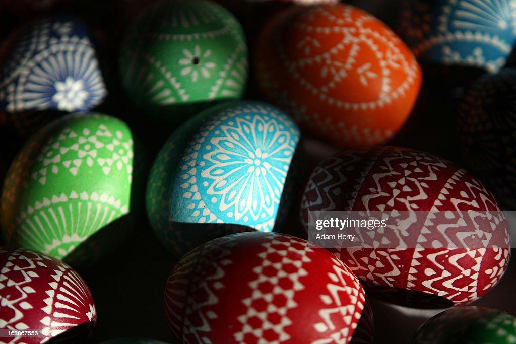 Sorbians Hold Annual Easter Egg Market : News Photo