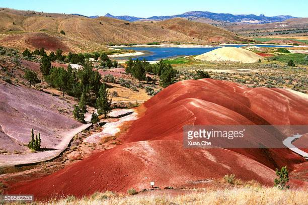 painted hills colors - xuan che stock pictures, royalty-free photos & images