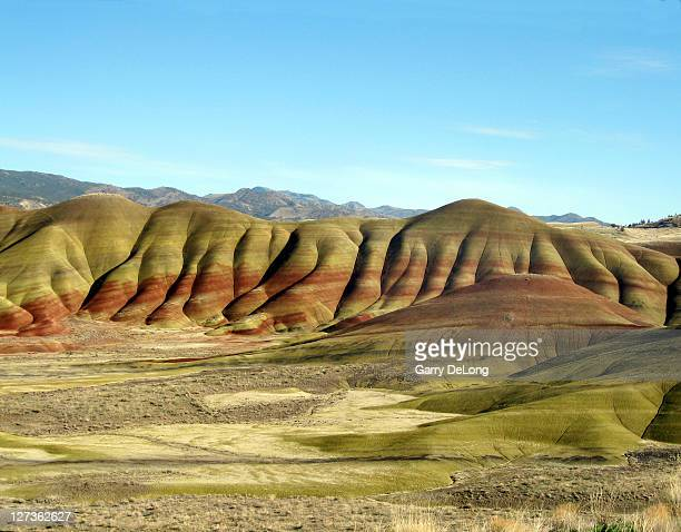 painted hills in oregon - john day fossil beds national park stock pictures, royalty-free photos & images