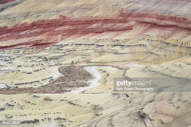 painted hills, john day fossil bed, oregon - stoking stock pictures, royalty-free photos & images