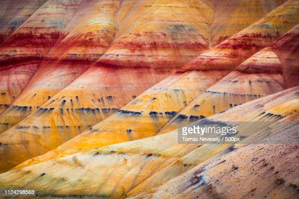 painted hills landscape - painted hills stock pictures, royalty-free photos & images