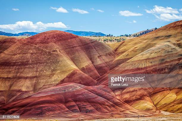 painted hills - fossil site stock pictures, royalty-free photos & images