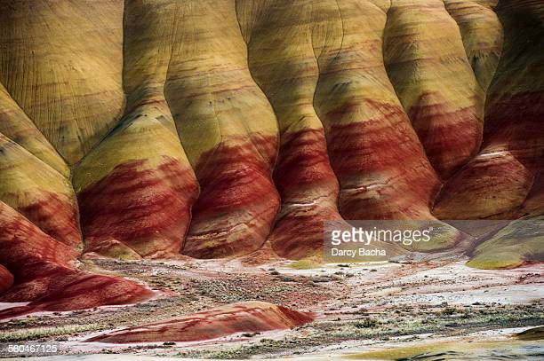 painted hills - john day fossil beds national park stock pictures, royalty-free photos & images
