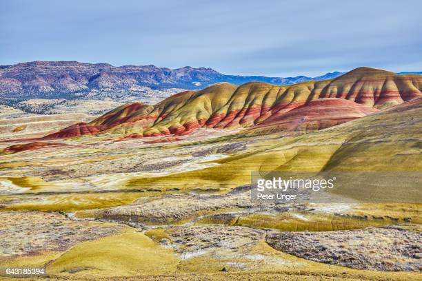 painted hills,wheeler county,oregon,usa - painted hills stock pictures, royalty-free photos & images