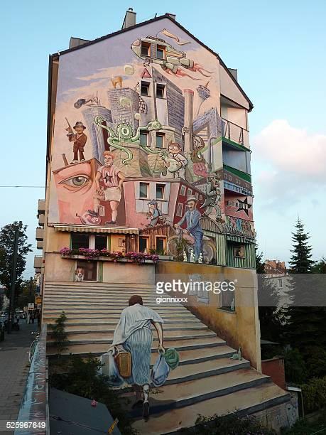 Painted house, Düsseldorf, Deutschland