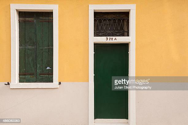 A painted house on the island of Giudecca, Venice.