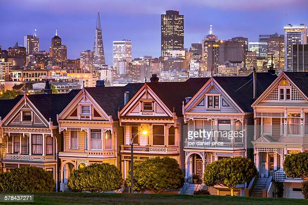 Painted ladies, San Francisco, California, America