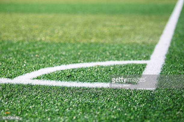 Painted Lines on a soccer field