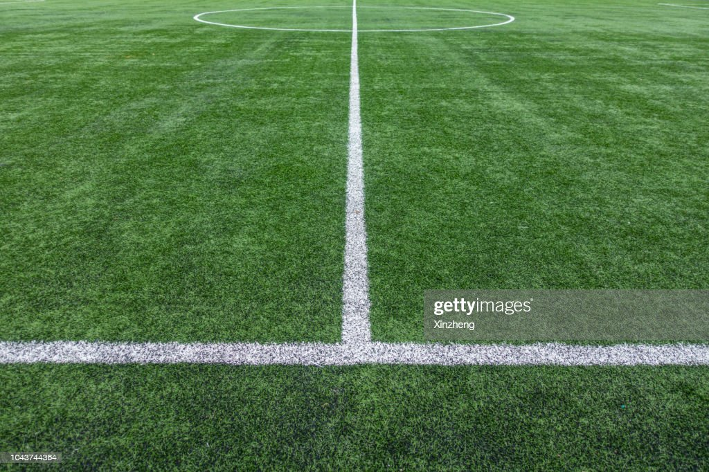 Painted Lines On Soccer Field : Stock Photo