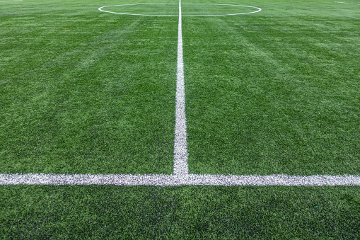 Painted Lines On Soccer Field - gettyimageskorea