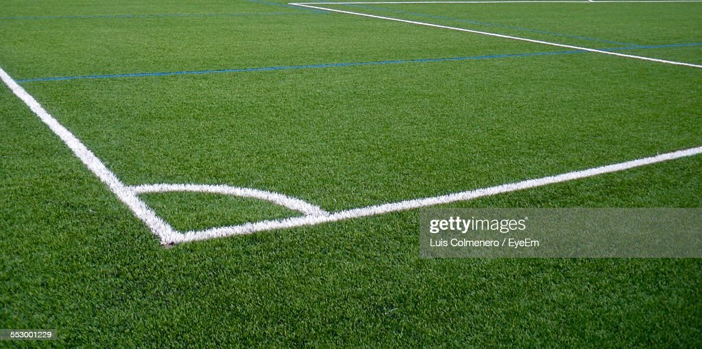 Painted Lines On Soccer Field Stock Photo | Getty Images