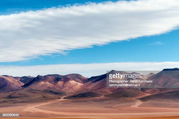 Painted Mountain in Siloli desert , Bolivia