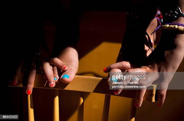painted nails - joseph o. holmes stock pictures, royalty-free photos & images