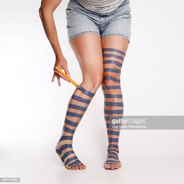 Painted on socks...