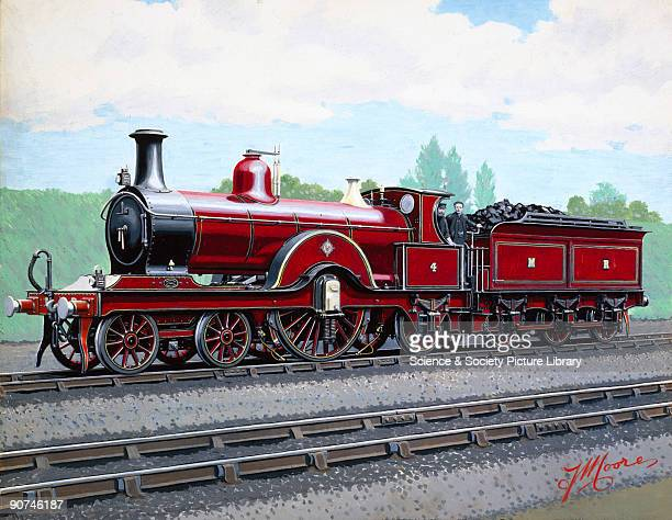 Painted photograph by F Moore showing a 422 steam locomotive of the Midland Railway F Moore was the collective name of a studio of artists operating...