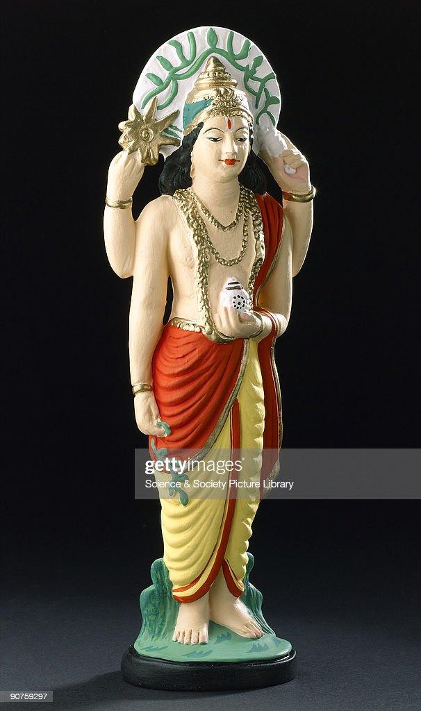 Statue of Dhanvantari, Hindu god of medicine, USA, 2005. : News Photo
