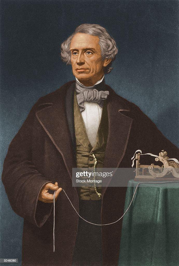 Samuel Morse With Telegraph : News Photo