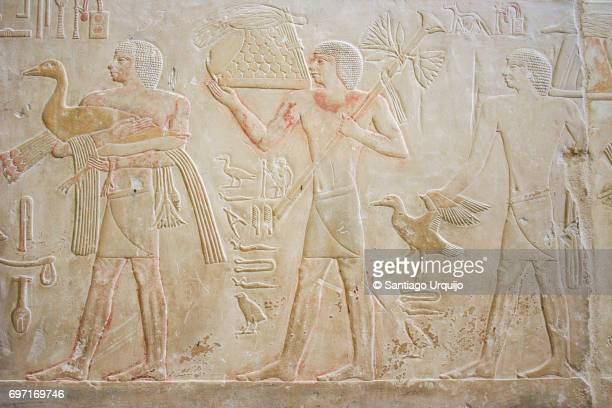 Painted relief from the tomb of Ty
