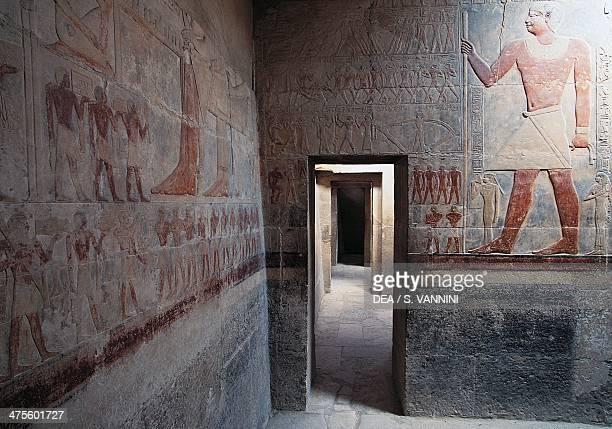 Painted reliefs from the mastaba of Mereruka Saqqara Necroplis Memphis Egypt Egyptian civilisation Old Kingdom Dynasty VI
