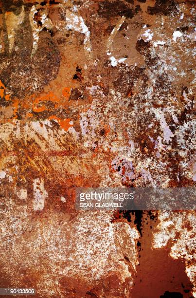 painted rusted steel - rust colored stock pictures, royalty-free photos & images