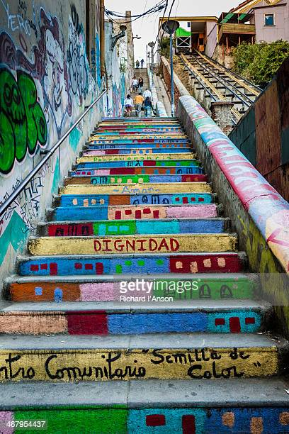 Painted steps on Cordillera Hill