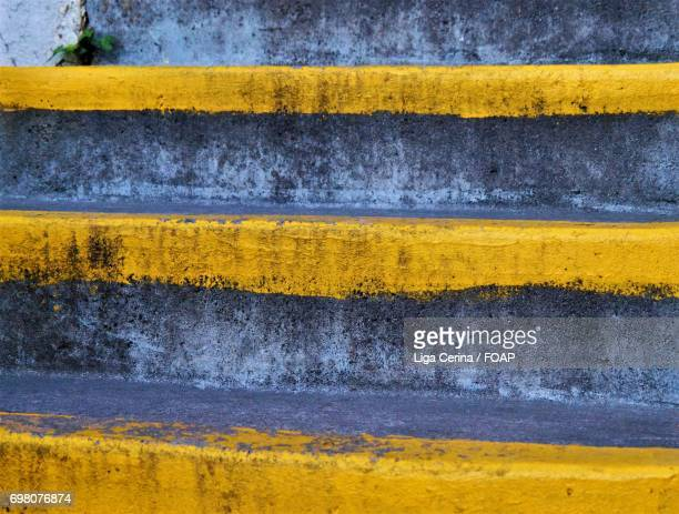 painted steps - liga cerina stock pictures, royalty-free photos & images