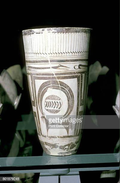 Painted terracotta goblet with animal decoration Susa c4000 BC Now in The Louvre