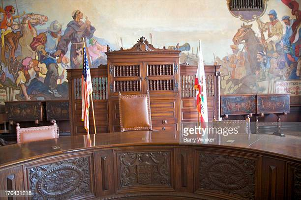 painted walls behind carved wood furniture - 1920 1929 stock pictures, royalty-free photos & images