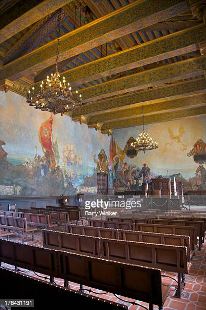 painted walls in room with benches - 1920 1929 stock pictures, royalty-free photos & images