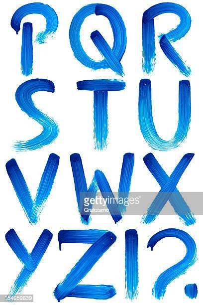 abc painted with paintbrush on white - font stock pictures, royalty-free photos & images