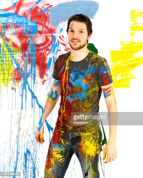 Painted young man