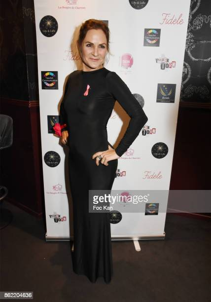 Painter Anne Mondy attends the 'Souffle de Violette' Auction Party As part of 'Octobre Rose' Hosted by Ereel at Fidele Club on October 16 2017 in...