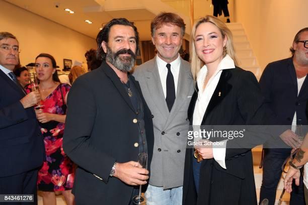 Painter artist Mauro Bergonzoli and his partner Princess Franziska Fugger von Babenhausen and Fashion designer founder and president Brunello...