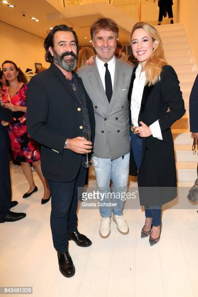 Painter artist Mauro Bergonzoli and his partner Princess Franziska Fugger von Babenhausen and Fashion designer founder and president Brunello...