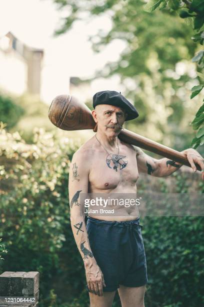 Painter, author, poet, photographer, film maker, singer and guitarist Billy Childish is photographed for Upstate Diary magazine on June 22, 2020 in...