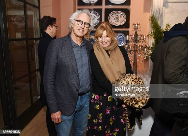 Painter Eric Fischl and Anne McNally attend the Cezanne Et Moi New York premiere after party at the Whitby Hotel on March 22 2017 in New York City