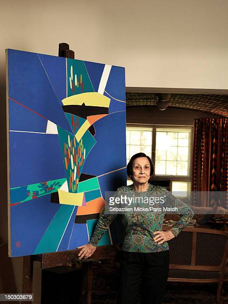 Painter Francoise Gilot and artistic muse and lover of Pablo Picasso from 1944 to 1953 is photographed for Paris Match on April 17 2012 in New York...