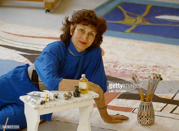Painter Francoise Gilot in her Paris studio She lived with Pablo Picasso from 1943 to 1949 and gave birth to his two children Claude and Paloma...