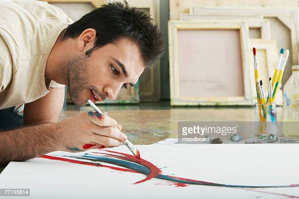 painter in his studio - 美術スタジオ ストックフォトと画像