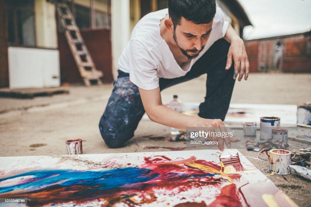 Maler im Modus machen : Stock-Foto