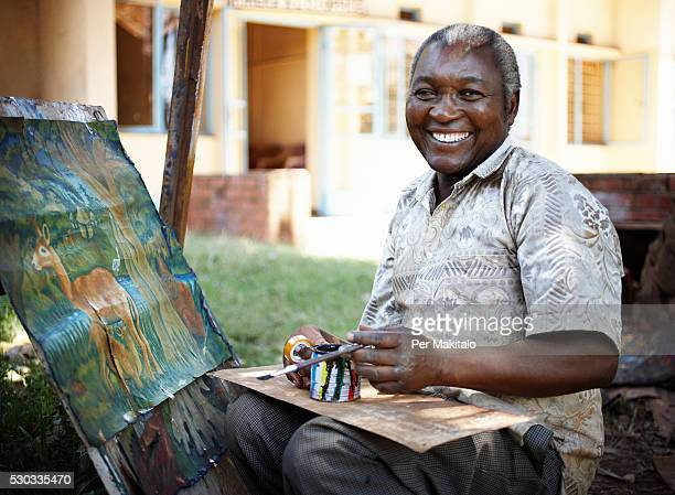 A painter in Uganda