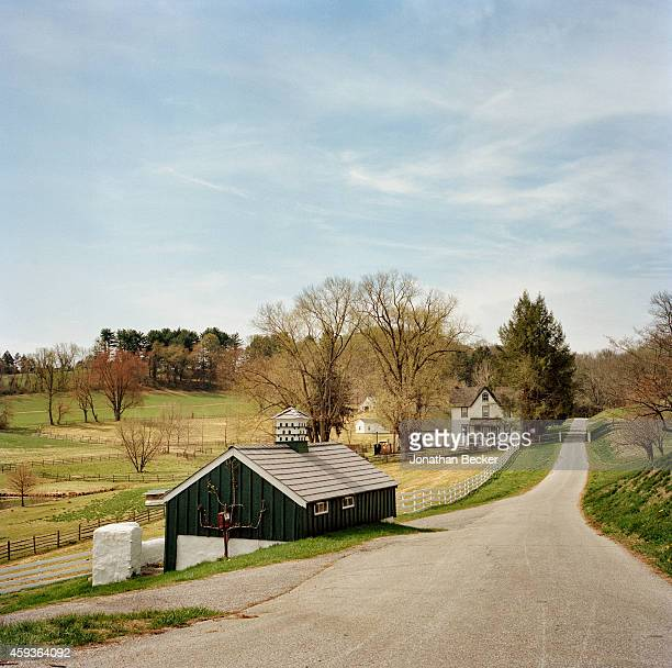 Painter Jamie Wyeth's farm is photographed for Vanity Fair Magazine on April 22 2014 in Chadds Ford Pennsylvania The farm has inspired many of the...