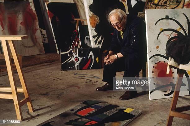 Painter Juan Miro in His Studio