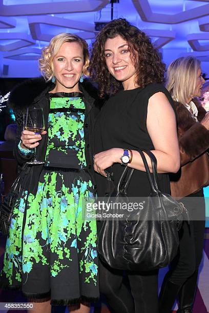 Painter Judith Grothe and Painter Nahid Shahalimi attend the 'Haute Couture Connection' Cocktail Prolonge at Hotel Vier Jahreszeiten on November 3...