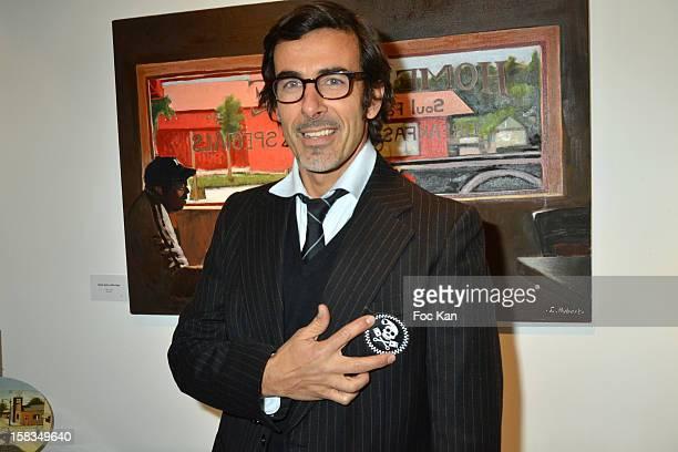 Painter Laurent Hubert attends the 'Amerique: Instantanes' - Laurent Hubert Painting Exhibition Preview at Galerie Myriane on December 13, 2012 in...